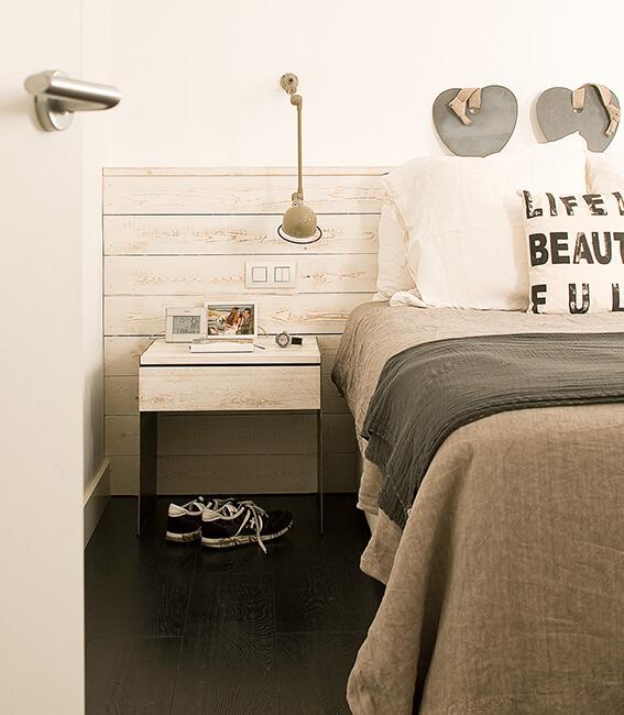 Catalina House interiorísmo casa Mitre. Detalle dormitorio