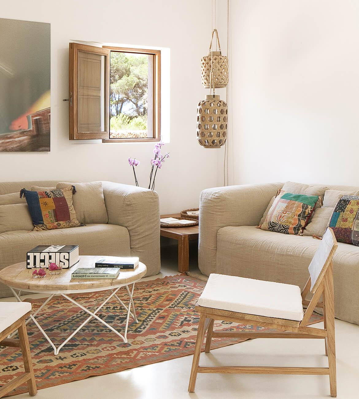 proyecto de interiorísmo Catalina House para casa Pep Lluqui. Salón