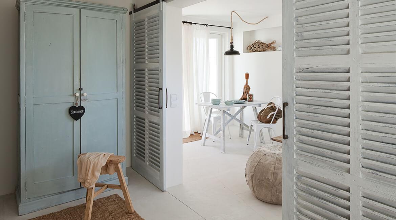 Catalina House interiorismo Casa Ses Roques Vilaro. Separación de espacios