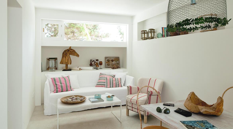 Catalina House interiorismo Casa Ses Roques Vilaro. Salón
