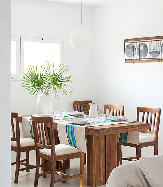 Catalina House proyecto de interiorísmo Casa Punta Prima Grau. Comedor
