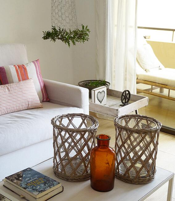 salón proyecto de interiorísmo Catalina House para apartamento puerto Fuensanta