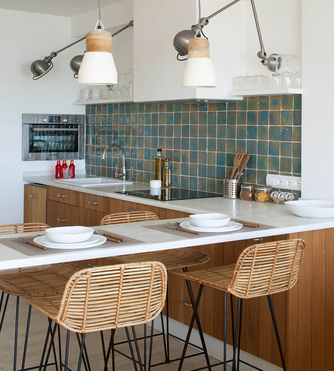 interiorísmo Catalina House para apartamento Savina Blasi. Cocina abierta