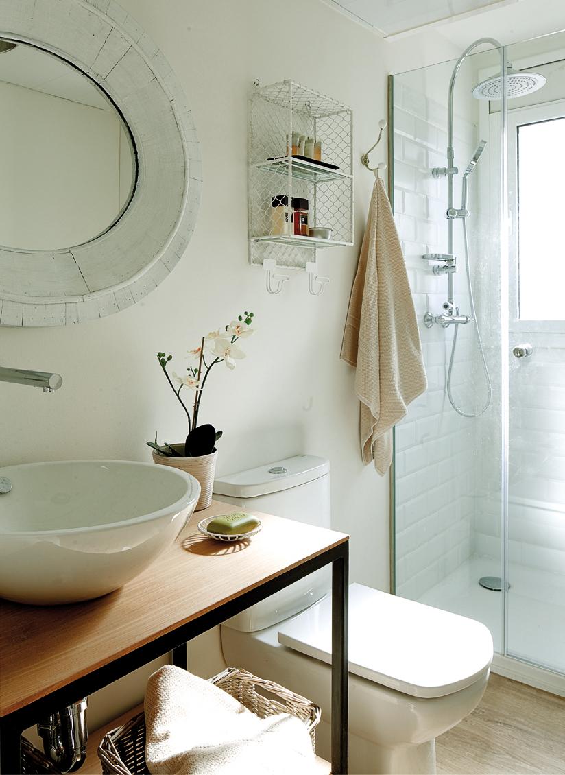 Vista de detalle del baño.