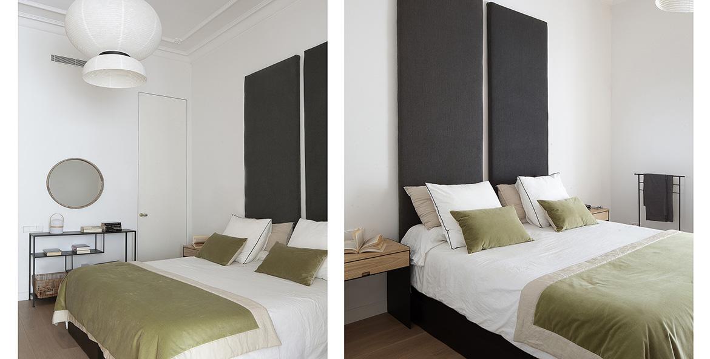 Vista dual del dormitorio principal.